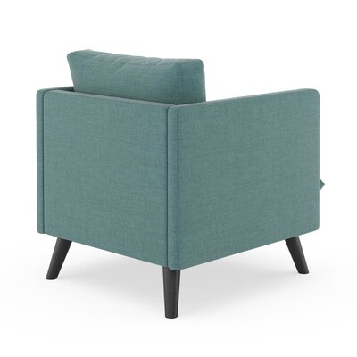 Rodgers Armchair Upholstery: Stone Blue, Finish: Black