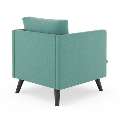 Rodgers Armchair Upholstery: Blue Lagoon, Finish: Black