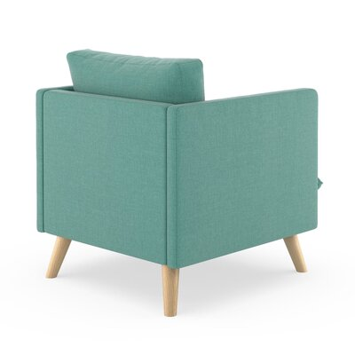 Rodgers Armchair Upholstery: Blue Lagoon, Finish: Natural