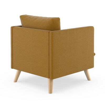 Rodgers Armchair Upholstery: Dijon, Finish: Natural