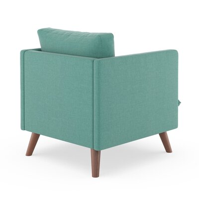 Rodgers Armchair Upholstery: Blue Lagoon, Finish: Walnut