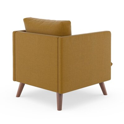 Rodgers Armchair Upholstery: Dijon, Finish: Walnut