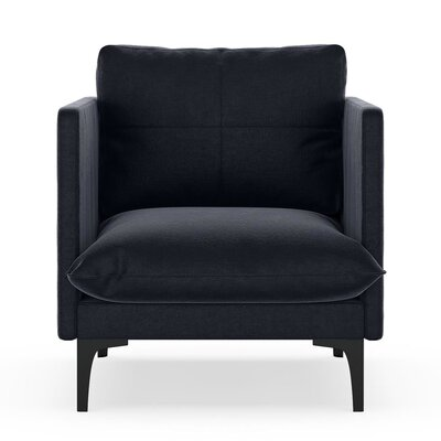 Sabina Armchair Upholstery: Midnight, Finish: Black