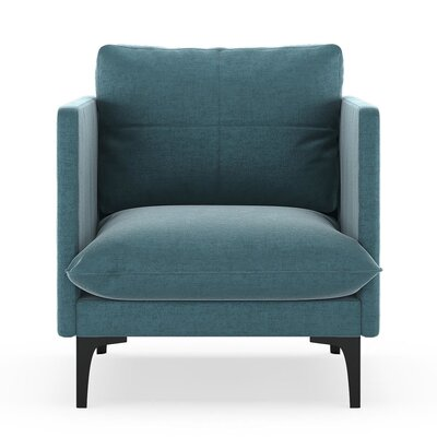 Sabina Armchair Upholstery: Steel Blue, Finish: Black