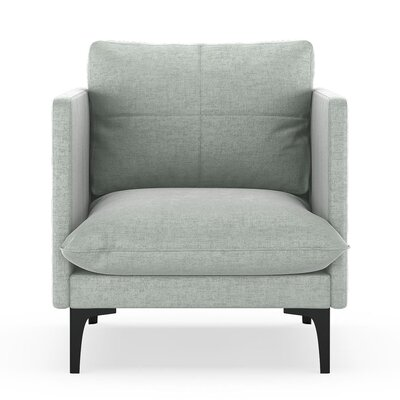Sabina Armchair Upholstery: Silver Gray, Finish: Black