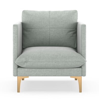 Sabina Armchair Upholstery: Silver Gray, Finish: Chrome