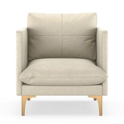 Sabina Armchair Upholstery: Vanilla, Finish: Chrome