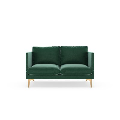 Sabina Loveseat Upholstery: Jade Green, Finish: Chrome