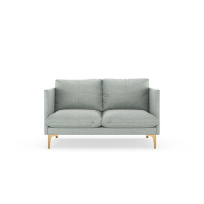Sabina Loveseat Upholstery: Silver Gray, Finish: Chrome
