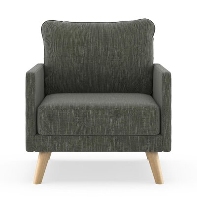 Crisman Armchair Upholstery: Spruce Gray, Finish: Chrome