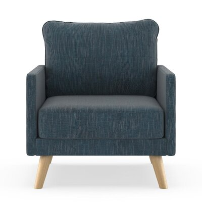 Crisman Armchair Upholstery: Navy Gray, Finish: Chrome