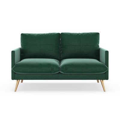 Sabatino Loveseat Upholstery: Jade Green, Finish: Chrome