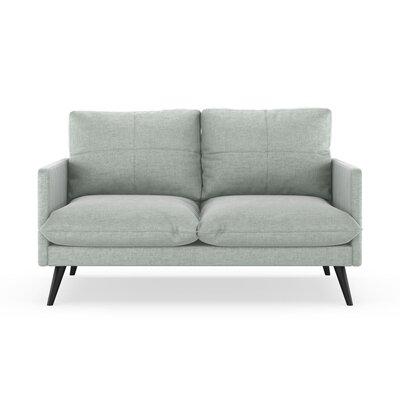 Sabatino Loveseat Upholstery: Silver Gray, Finish: Black