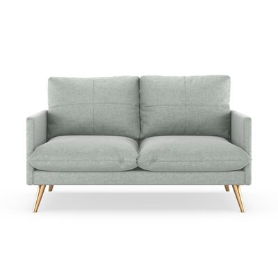 Sabatino Loveseat Upholstery: Silver Gray, Finish: Chrome