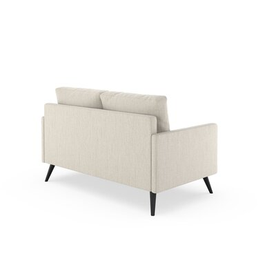 Seitz Loveseat Upholstery: Wheat, Finish: Black