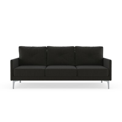 Ryenne Sofa Upholstery: Slate Gray, Finish: Brass