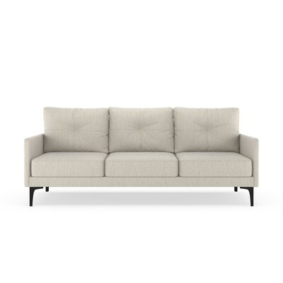 Ryenne Sofa Upholstery: Wheat, Finish: Black