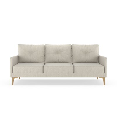 Ryenne Sofa Upholstery: Wheat, Finish: Chrome