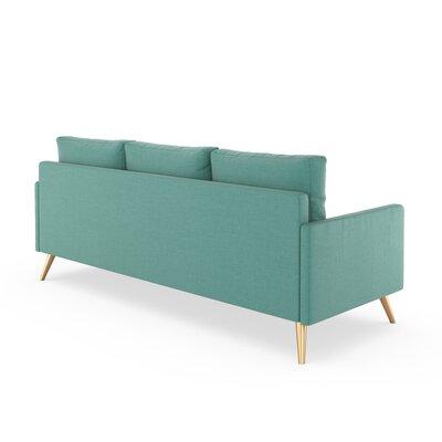 Croker Sofa Upholstery: Blue Lagoon, Finish: Chrome