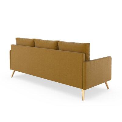 Croker Sofa Upholstery: Dijon, Finish: Chrome