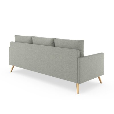 Croker Sofa Upholstery: Fog, Finish: Chrome