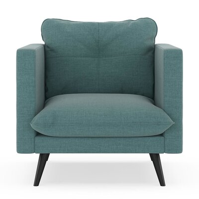 Crosier Armchair Upholstery: Stone Blue, Finish: Black