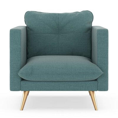 Crosier Armchair Upholstery: Stone Blue, Finish: Chrome