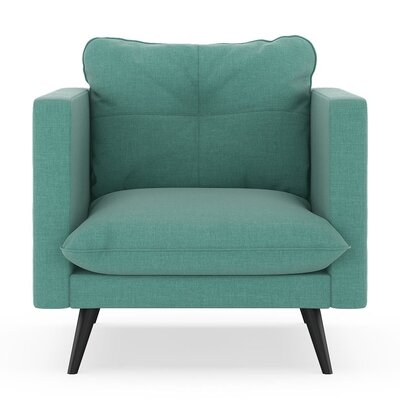 Crosier Armchair Upholstery: Blue Lagoon, Finish: Black