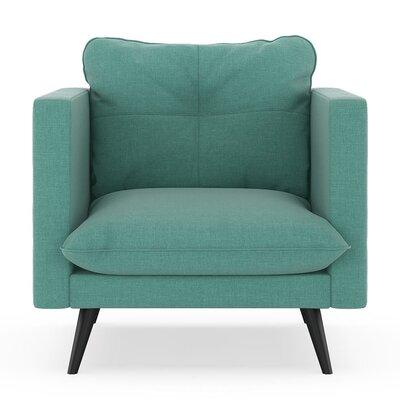 Crosier Armchair Upholstery: Blue Lagoon, Finish: Black