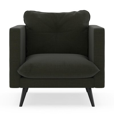 Crosier Armchair Upholstery: Peppercorn, Finish: Black