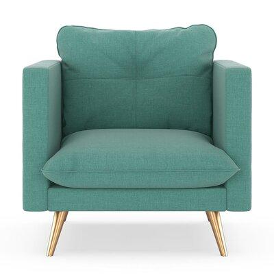 Crosier Armchair Upholstery: Blue Lagoon, Finish: Chrome