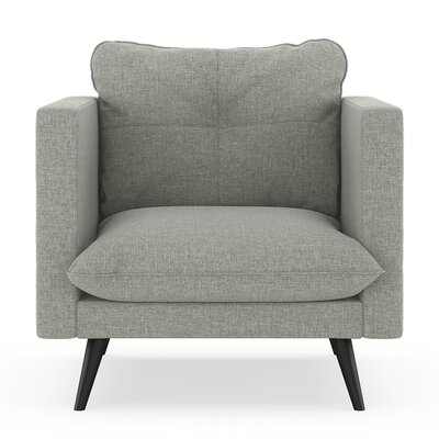 Crosier Armchair Upholstery: Fog, Finish: Black