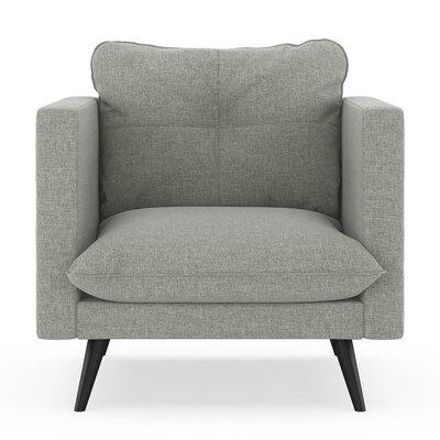 Crosier Armchair Upholstery: Fog, Finish: Black