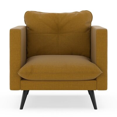 Crosier Armchair Upholstery: Dijon, Finish: Black