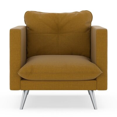 Crosier Armchair Upholstery: Dijon, Finish: Brass