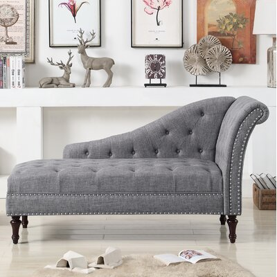 Deedee Chaise Lounge Upholstery: Gray