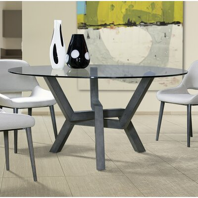 Maselli Glass Dining Table Base Color: Shadow, Size: 60 W x  60 L