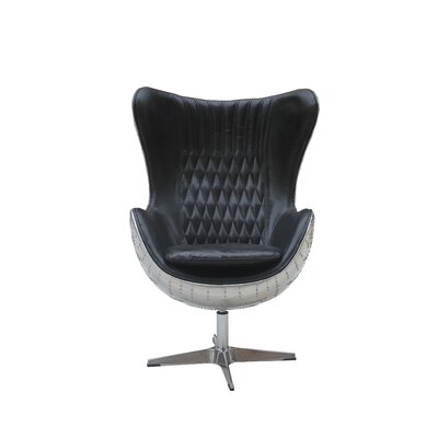 Cullum Leather Swivel Lounge Chair