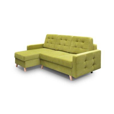 Cassel Vegas Sleeper Sectional Upholstery: Green