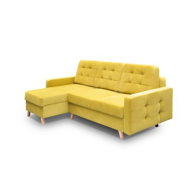 Cassel Vegas Sleeper Sectional Upholstery: Yellow