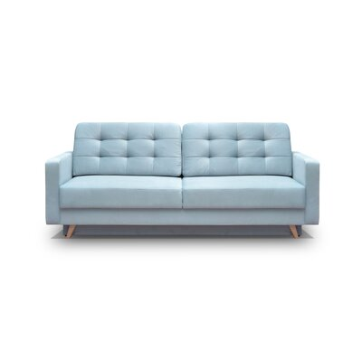 Cassella Vegas Reversible Sleeper Sectional Upholstery: Blue