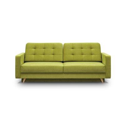 Cassella Vegas Reversible Sleeper Sectional Upholstery: Green