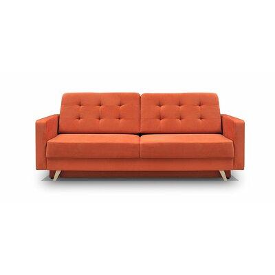 Cassella Vegas Reversible Sleeper Sectional Upholstery: Orange