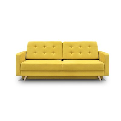 Cassella Vegas Reversible Sleeper Sectional Upholstery: Yellow