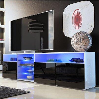 Prieto Roma 79 TV Stand Color: White/Black