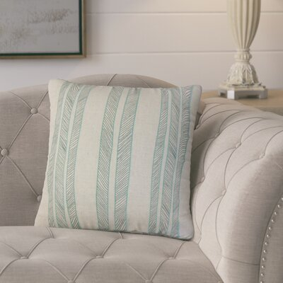 Picard Stripes Throw Pillow Color: Aqua