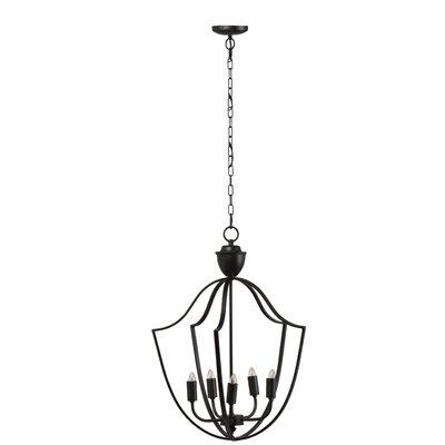 Hillyer Rustic 5-Light Lantern Pendant