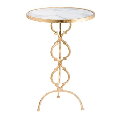 Harriman End Table Table Base Color: Gold