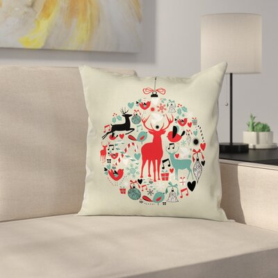 Christmas Decorative Ball Square Pillow Cover Size: 20 x 20