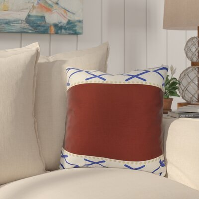 Bartow Knot Fancy Throw Pillow Size: 18 H x 18 W x 3 D, Color: Red